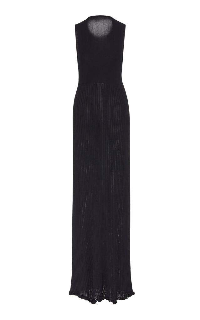 Plissé Rib Knit Dress