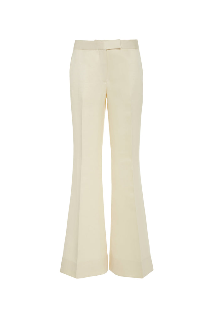 Cropped Double Faced Wool Trousers