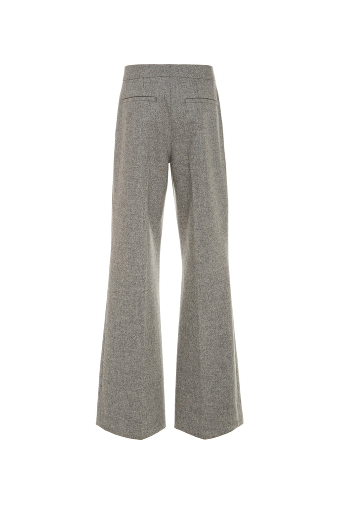 Cropped Wool Trousers
