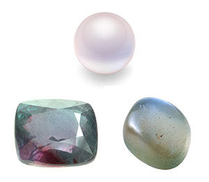 Pearl, Alexandrite and Moonstone- June's Three Birthstones