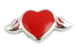 Red Heart Floating Charm