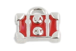 Red Luggage Bag Floating Charm