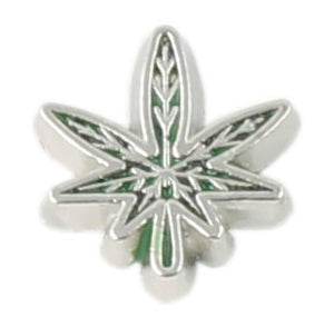 Pot Leaf Floating Charm