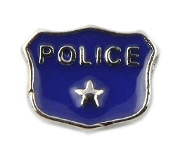 Police Badge Floating Charm