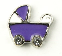 Purple Stroller Floating Charm