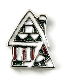 Gingerbread House Christmas Floating Charm