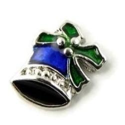 Blue Jingle Bell Christmas Floating Charm