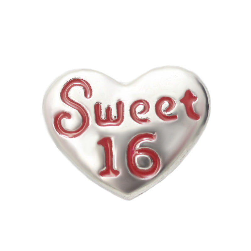 Sweet Sixteen Floating Charm