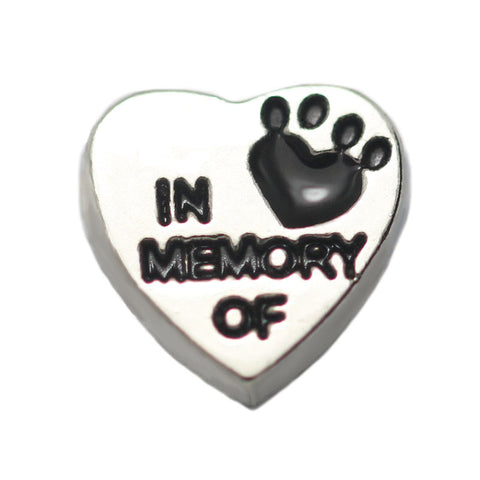 In memory Of Heart Floating Charm