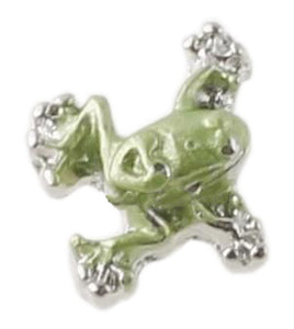 Green Frog Floating Charm