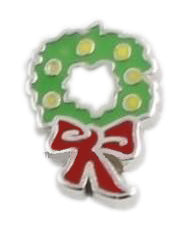 Christmas Wreath Floating Charm