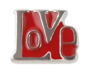 Red Love Block Floating Charm