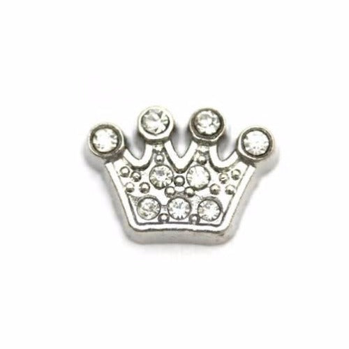 CZ Crown Floating Charm