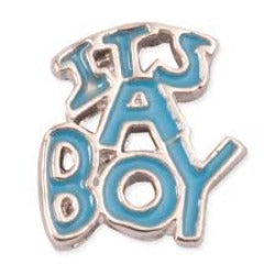 It's a Boy Floating Charm