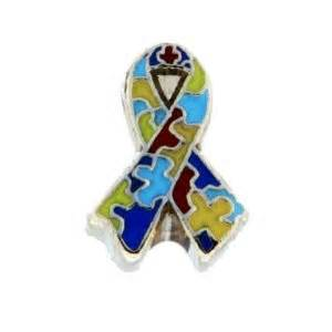 Autism Awareness Ribbon Floating Charm