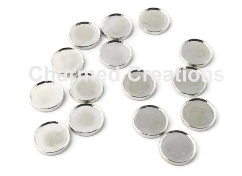 Blank DIY Round Photo Floating Charms