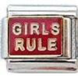 Girls Rule 9mm Italian charm