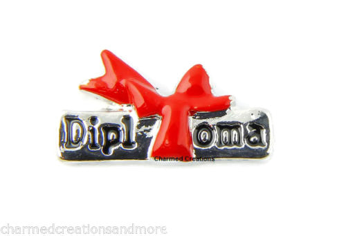 Diploma Floating Charm