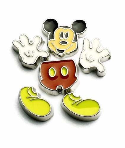 Mickey Mouse Floating Charm 6pc Set