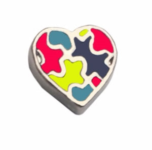 Autism Awareness Heart Floating Charm