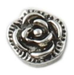 Blooming Rose Floating Charm