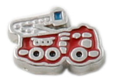 Fire Truck Floating Charm