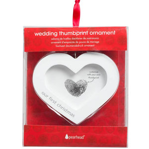 DIY Wedding Thumbprint Heart Ornament