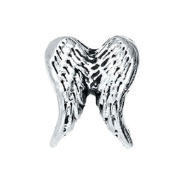 Silver Angel Wings Floating Charm
