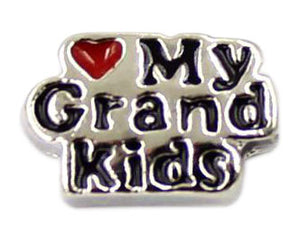 Love My Grand Kids Floating Charm