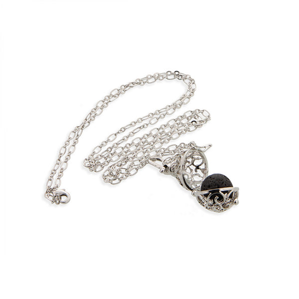 Essential Oil Necklace Diffuser Platinum Finish