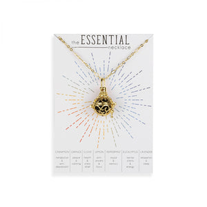 Essential Oil Necklace Diffuser 18k Gold Finish