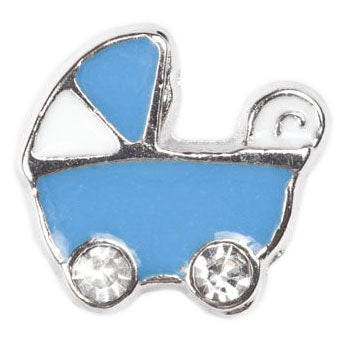 Blue Stroller Floating Charm