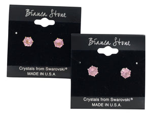 June Birthstone Stud Earrings With Genuine Swarovski Crystals