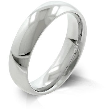 Men's Comfort Fit Stainless Steel Wedding Ring