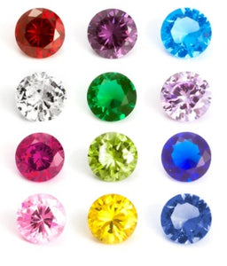 4mm Round Birthstone Floating Charms
