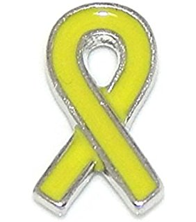 Yellow Ribbon Floating Charm
