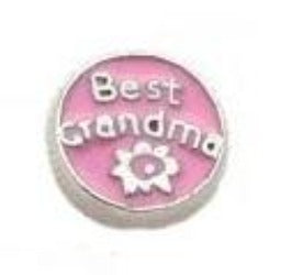 Best Grandma Floating Charm