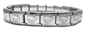 Hello Kitty Shiny 9mm Italian Charm Starter Bracelet