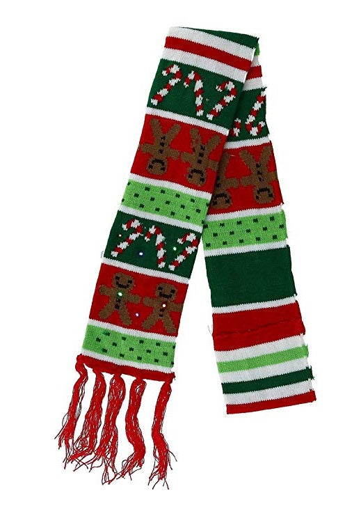 Lotsa Lites Flashing LED Christmas Scarf