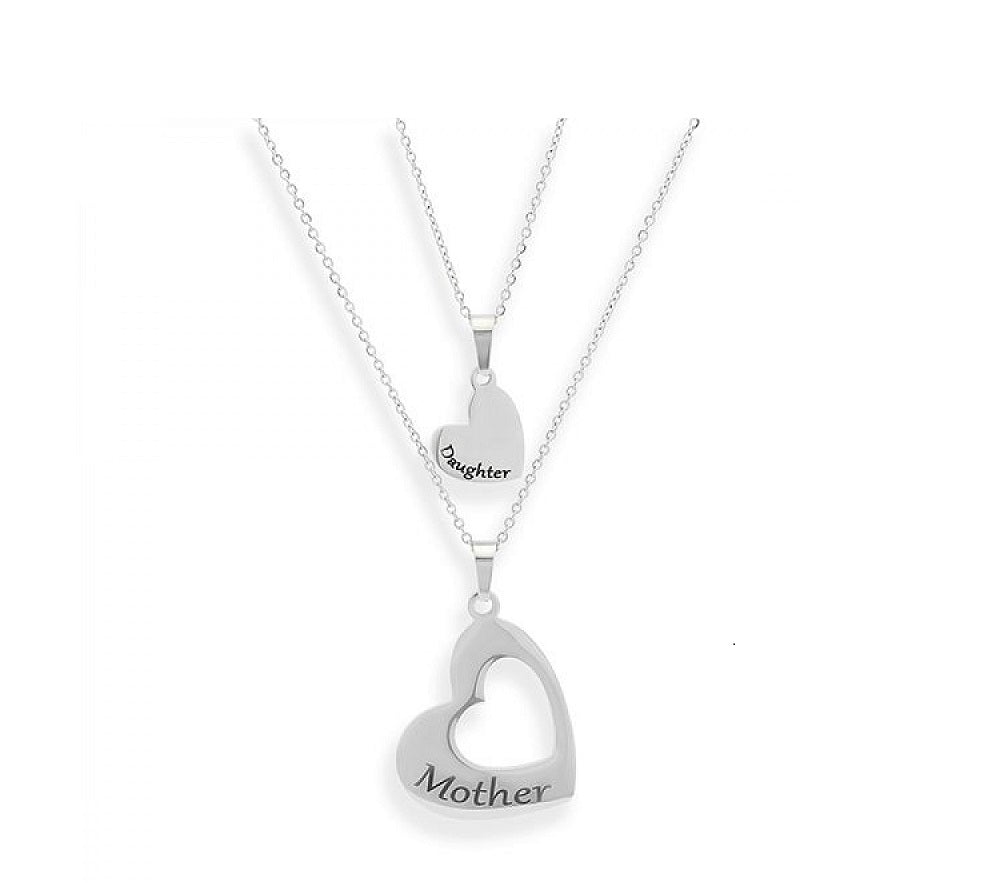 Mother Daughter Nesting Heart Necklace Set (2 Necklaces)