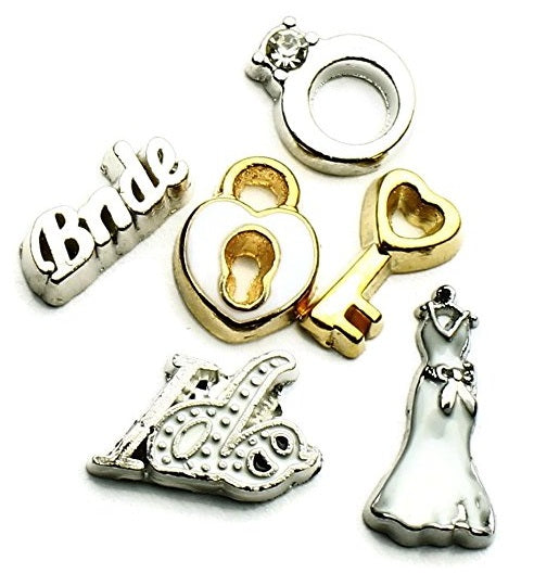 Wedding Theme Floating Charms For Lockets