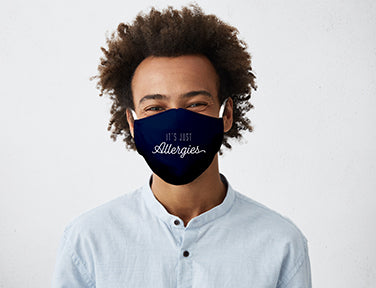 It's Just Allergies Adult Care Cover Face Mask