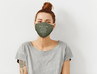 Wash Your Hands Ya Filthy Animal Adult Care Cover Face Mask
