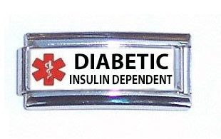 Diabetic Insulin Dependent Super Link 9mm Italian charm