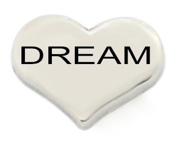 Dream Silver Heart Floating Charm