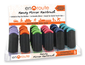 En Route Travel Mirror Hairbrush