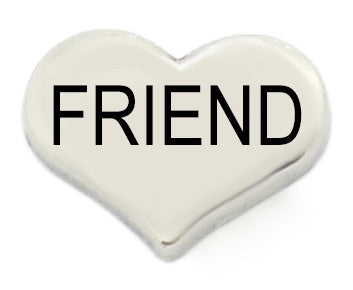 Friend Silver Heart Floating Charms