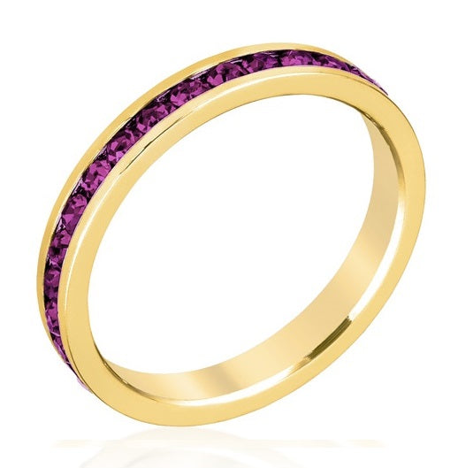 February Stackable Eternity Ring In Gold