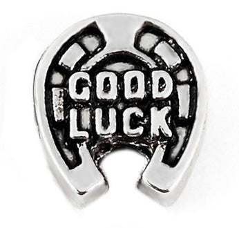 Good Luck Horseshoe Floating Charm
