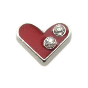 Red Crystal Heart Floating Charm